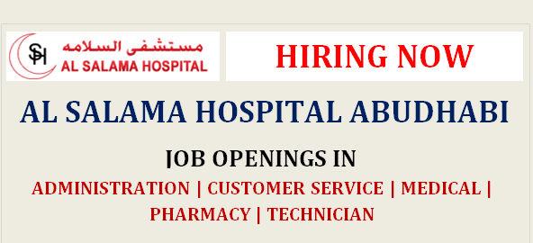 AL SALAMA HOSPITAL UAE JOBS