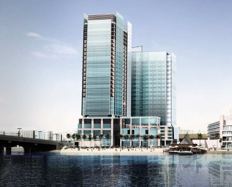 Beach Arjaan Rotana hotel Abu Dhabi