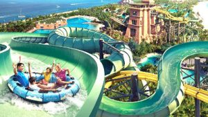 water slide at wild wadi water park dubai